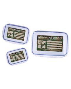 Triple Cache Container Set - Green Camo