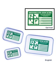 Triple Cache Container Set - German