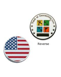 Country Micro Geocoin - USA