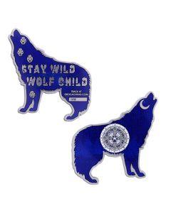 Wolf Geocoin- Blue